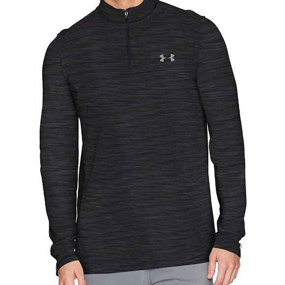 NEW UNDER ARMOUR UA THREADBORNE BLACK SEAMLESS ¼ ZIP MEN`S SHIRT Sz M,L,XL,2XL